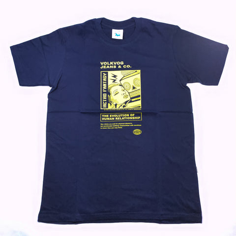 VOLKVOG TSHIRT VLV-TB008 MACHINE LOVE NAVY