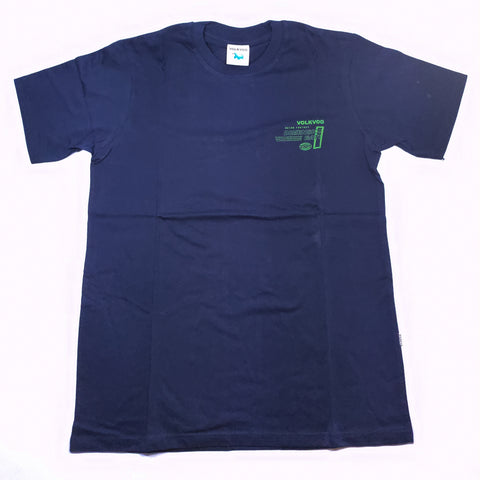 VOLKVOG TSHIRT VLV-TB007 RUN RELATIVE NAVY