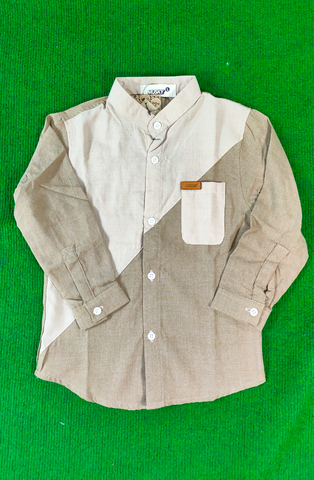 MUSKY MUS SG004  SHIRT MS LST 9977 BROWN