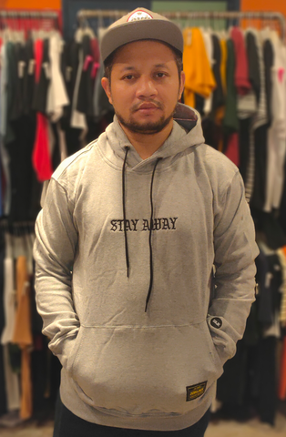 DOBUJACK DOB SF034 STAY AWAY HOOD MISTY GREY