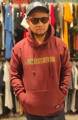 DOB-TB001 , SWEATER HOODIE AMBITIOUS BOLD , SWEATER , GENERAL , MAROON