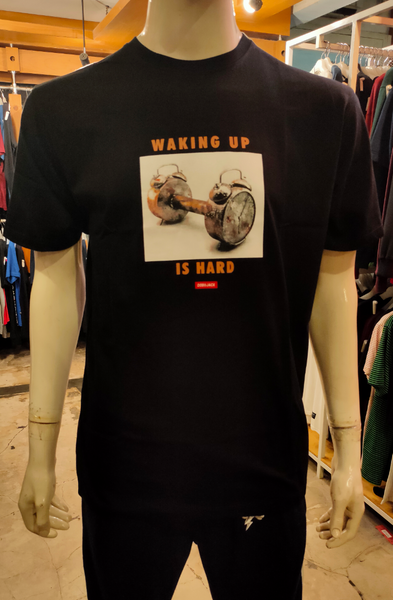 DOBUJACK DOB TC031 WAKING UP BLACK TEES
