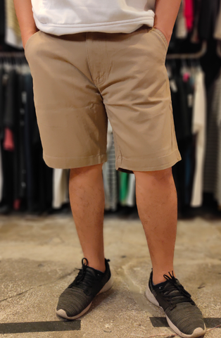 TENDENCIES 18ETND M48CN004 BROWN CHINOS SHORT