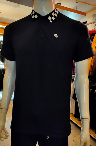 TENDENCIES 19FTND M0202004 CHECKER BAND POLO NAVY