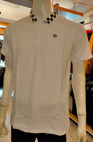 TENDENCIES 19FTND M0202005 CHECKER BAND POLO WHITE