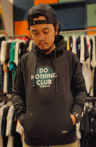 IZZ.WEAR IZZ-SB003 HOODIE DO CLUB IZZ BLACK