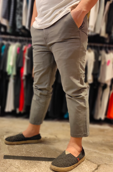TENDENCIES 19CTND M47CHINOS003 LONG RISE ANKLE GREY