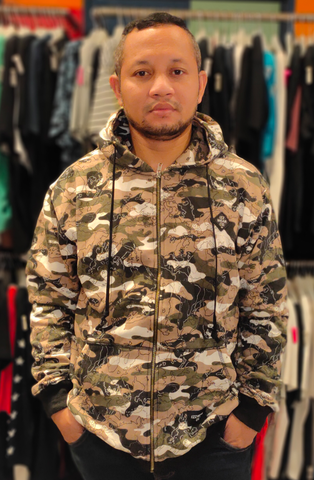 IZZ WEAR IZZ SD002 ARMY ZIPPER