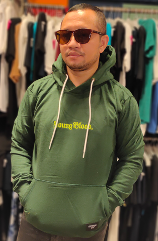 IZZWEAR IZZ SF001 HOODIE YOUNGBLOOD GREEN