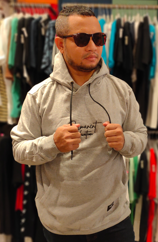 IZZ WEAR IZZ SF008 HOODIE PERMANENT MISTY