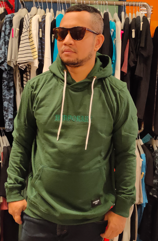 IZZ WEAR IZZ SF010 HOODIE TEMPORARY GREEN