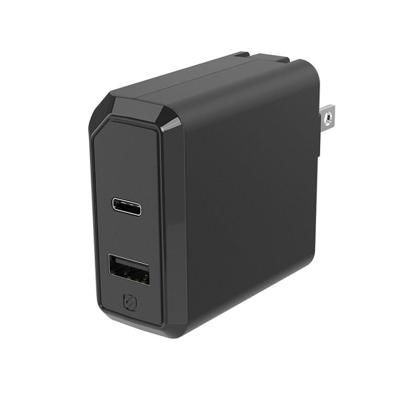 Scoche PowerVolt USB-C & USB-A 18 Watt Wall Charger - Power Delivery