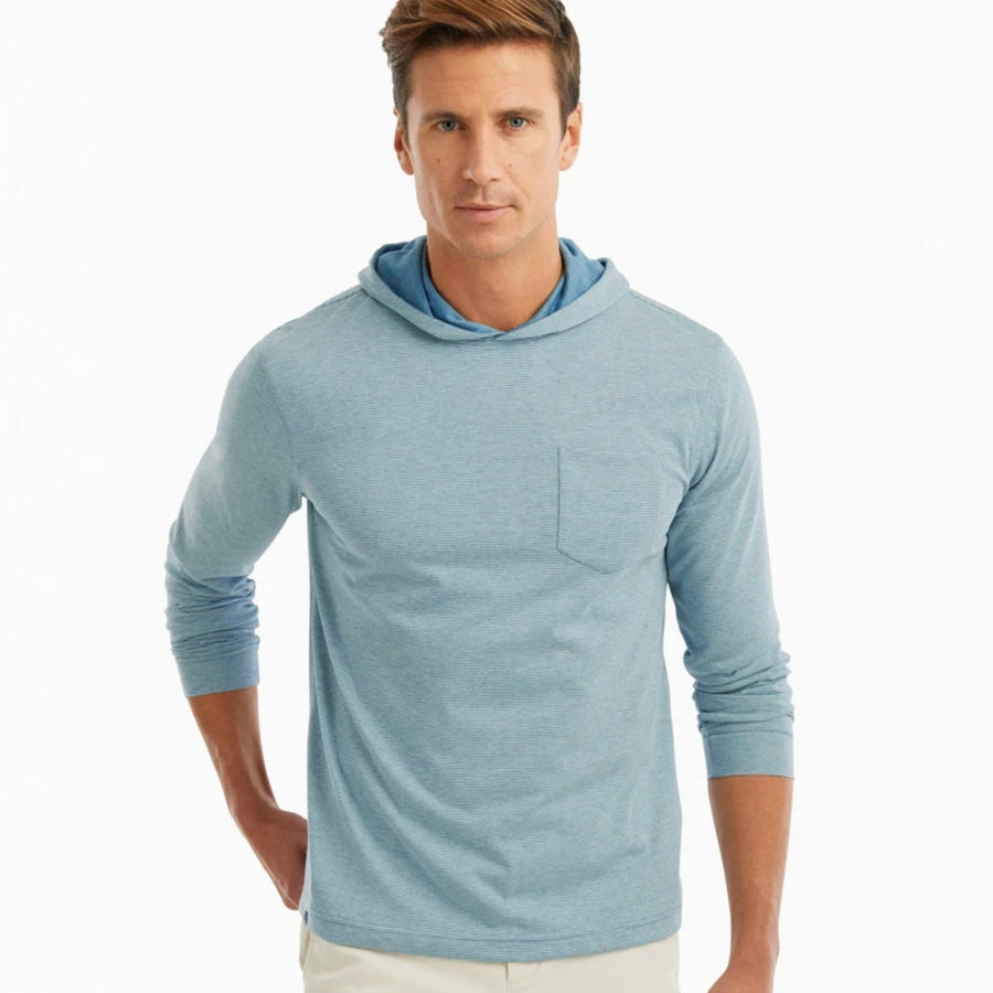 Gunnar Striped Hooded T Shirt
