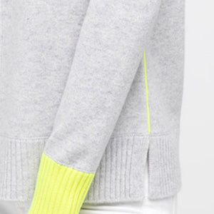 Contrast Trim Crew Sweater