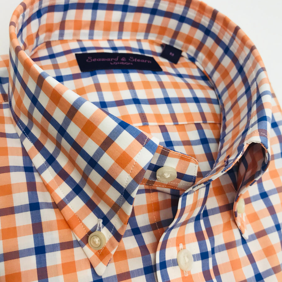 Checked Button Down Sport Shirt