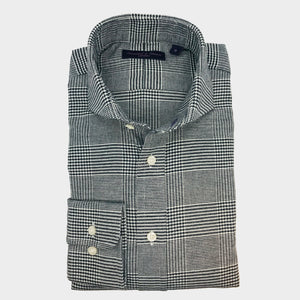Prince of Wales Brushed Cotton Sport Shirt