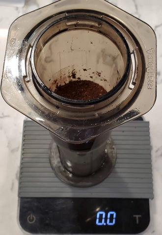 Inverted AeroPress with Ground Beans