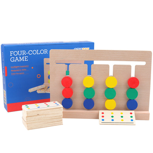 Wooden Four-Color Game Toy