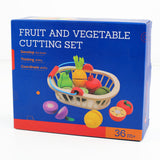 Wooden Play Food Fruit Cutting Toy