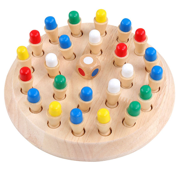 Wooden Memory Matchstick Board Chess Game Toy For Kids