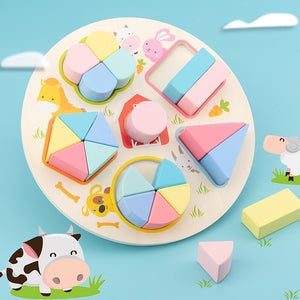Wooden Shape Board Game Puzzle Toy For Kids