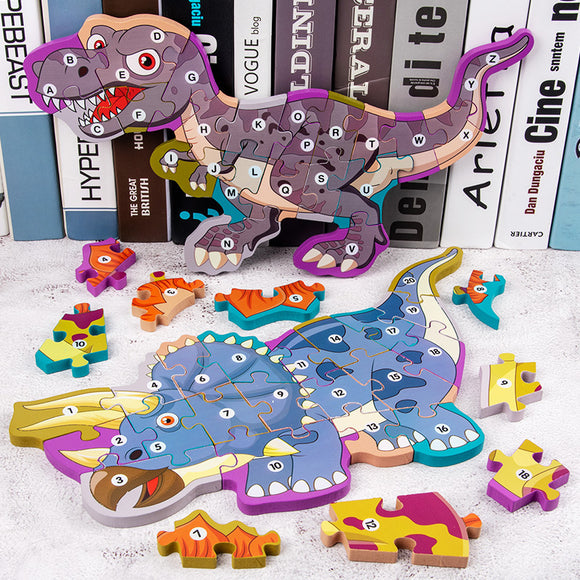 Wooden Dinosaur Jigsaw Puzzle Toy