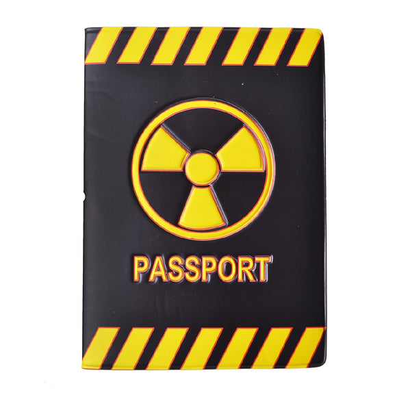 Danger Mark Pattern Travel Passport Holder