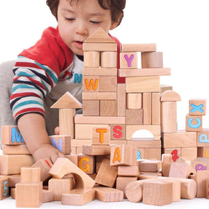 Wooden Children's Building Blocks Toy