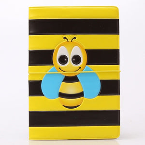 Yellow Bee Pattern Passport Holder Cover