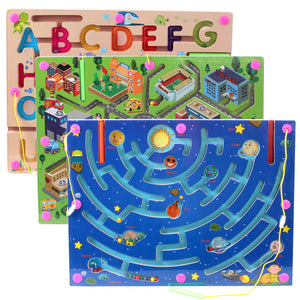 Wooden Magnetic Maze Puzzle Toy