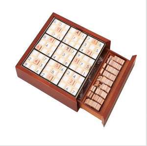Wooden Sudoku Chess Game Intelligence Toy
