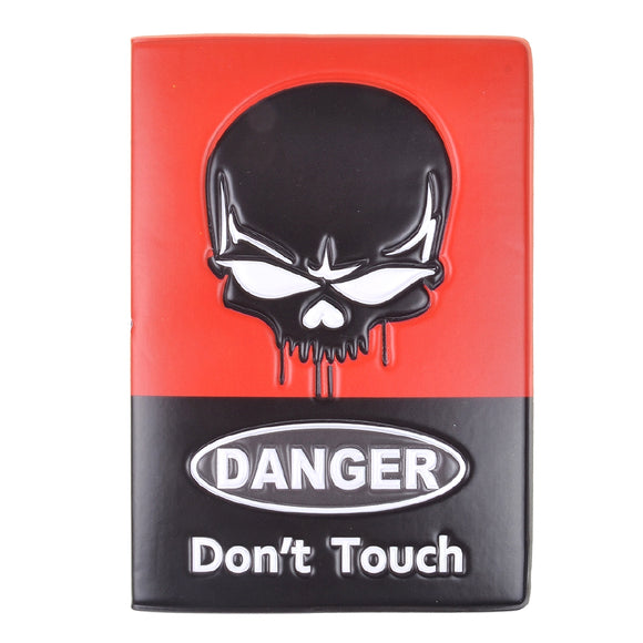 Danger Skull Passport Holder