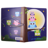 Cartoon Owl Pattern Passport Holder Cover