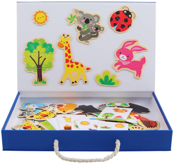 Wooden Magnetic Puzzle Toy For Kids