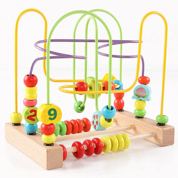 Wooden Educational Bead Maze Toy For Kids