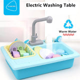 Electric Washing Table Play Kitchen Toy Set