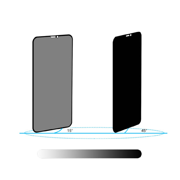 Anti-peep Tempered Glass Screen Cover for iPhone 11 Pro Max