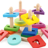 Wooden Geometric Early Educational Toy Set