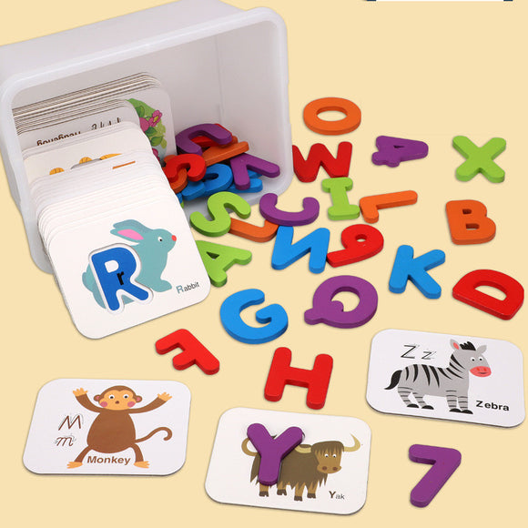 Alphabet Board Matching Cognitive Puzzle Toy