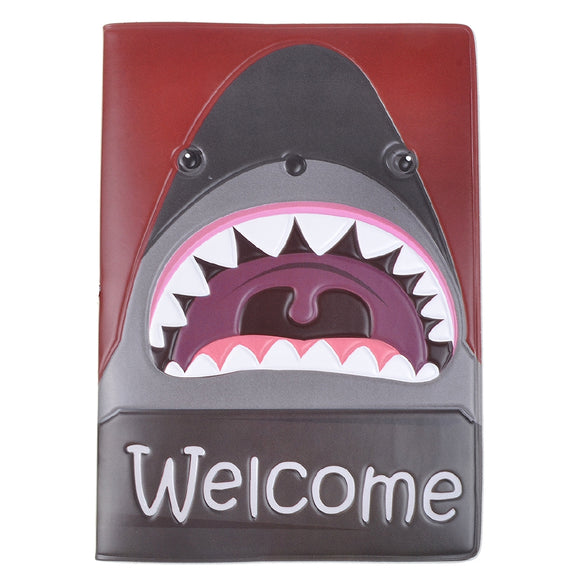 Shark Pattern Passport Holder
