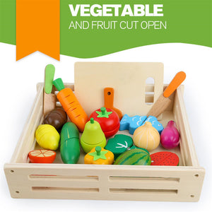 Wooden Vegetables Fruits Play Food Toy
