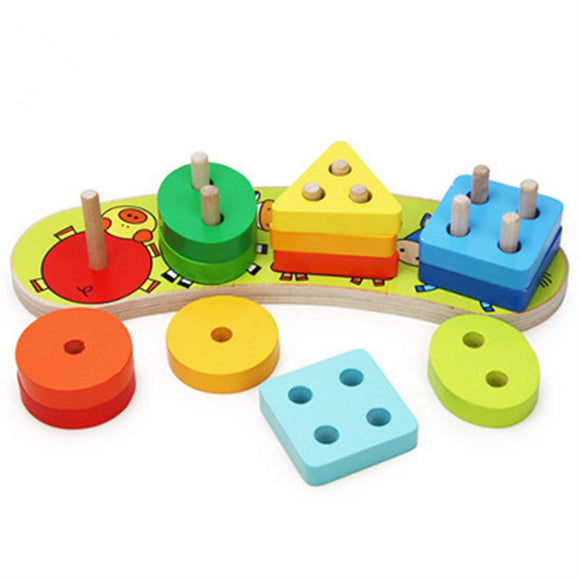 Wooden Geometry Cognitive Educational Toy