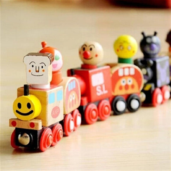 Wooden Magnetic Bread Train Toy