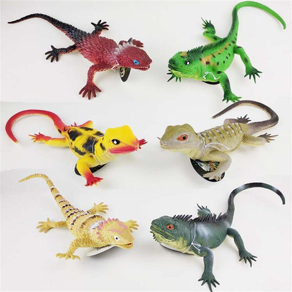 Soft Glue Simulation Lizard Vocal Model Toy