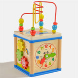 Wooden Clock Bead Puzzle Toy
