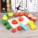 Wooden Fruit and Vegetables Cut Play Toy