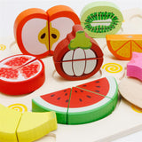 Wooden Fruit Jigsaw Puzzle Pretend Play Kitchen Toy