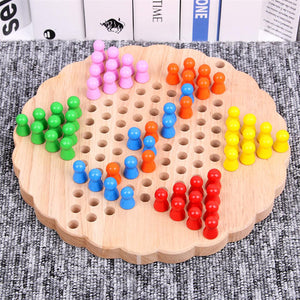 Wooden Chinese Checkers Game Toy
