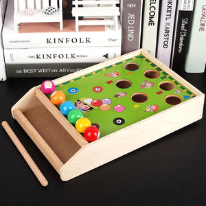 Wooden Billiard Game Color Cognition Toy