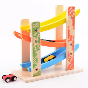 Wooden Fun Track Car Classic Toy Set
